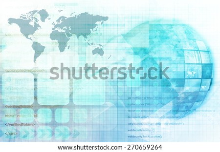 Cloud Computing Big Data Distributed Computing - stock photo