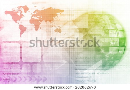 Cloud Computing Big Data Distributed Computing 3D - stock photo