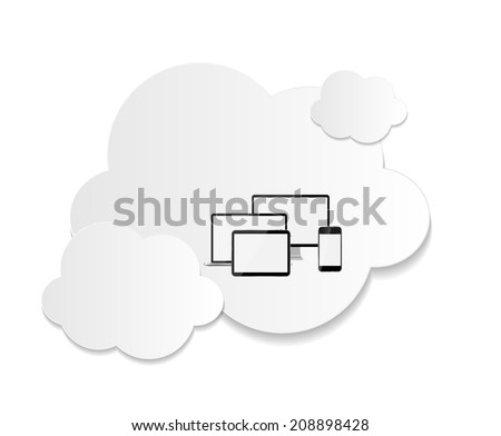 Cloud Computing Business Concept  Illustration - stock photo