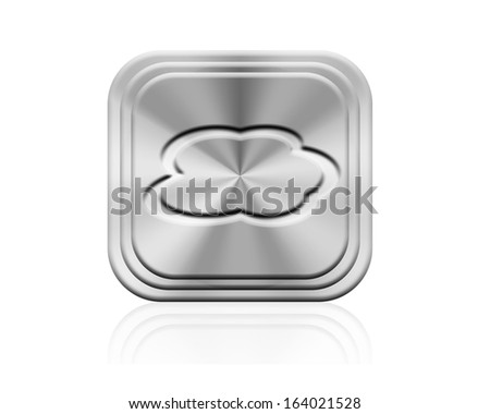 Cloud computing button - stock photo