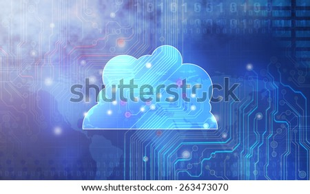 Cloud computing concept: - stock photo
