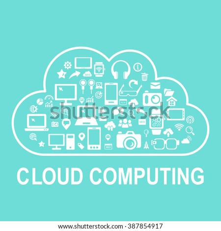 cloud computing concept - icon connect to cloud