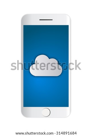 Cloud computing concept on the smart phone