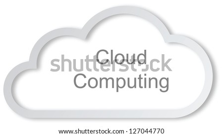 Cloud computing concept on white background - stock photo