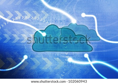 Cloud computing concept - world wide data sharing and communication