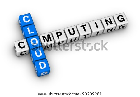 cloud computing crossword puzzle on white background