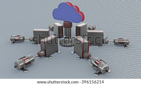 cloud computing 3d  render