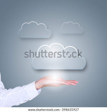 Cloud computing data storage space concept