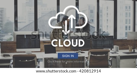Cloud Computing Database Server Network Concept - stock photo