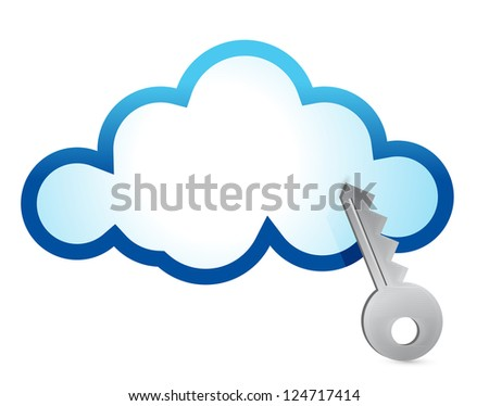 Cloud computing internet security concept illustration design - stock photo