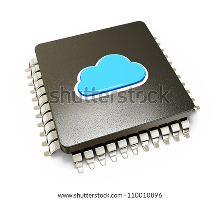 cloud computing isolated on a white background