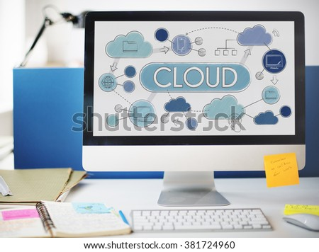 Cloud Computing Network Data Storage Technology Concept