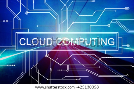 Cloud Computing Online Technology Circuit Board Concept