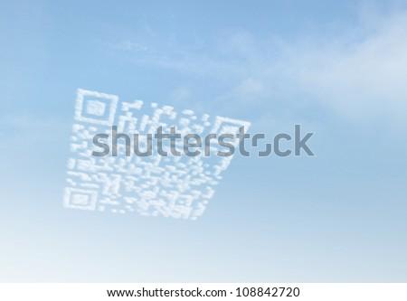 Cloud Computing QR Code - stock photo