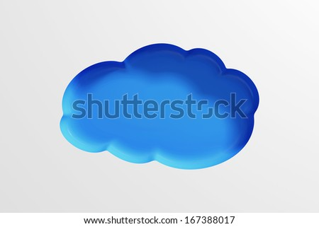 Cloud Computing Symbol Abstract Background