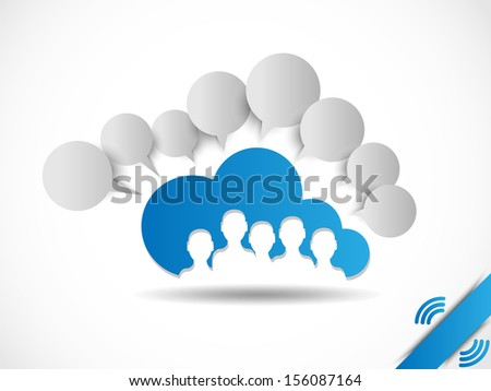 CLOUD COMPUTING WORLD PEOPLE CONNETTING - stock photo