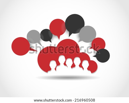 CLOUD COMPUTING WORLD PEOPLE CONNETTING RED - stock photo