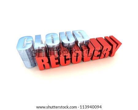 Cloud Data Recovery - stock photo