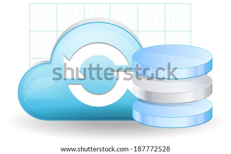Cloud Database Services - Illustration - stock photo