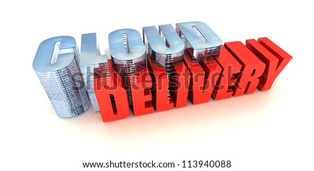 Cloud Delivery - stock photo