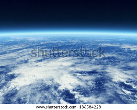 Cloud from Space (Elements of this image furnished by NASA) - stock photo