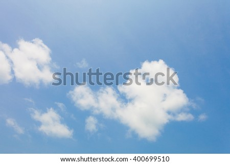 Cloud in the blue sky - stock photo