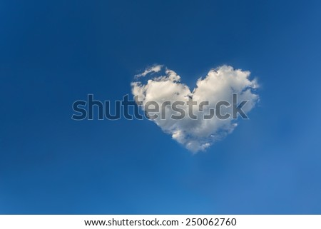 cloud in the form of heart - stock photo