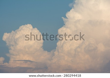 Cloud in the sky in a day. It is useful for background and cover books. - stock photo