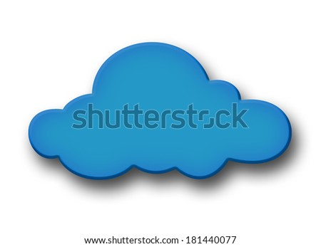Cloud isolated on White