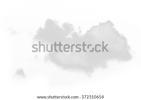 Cloud isolated on white - stock photo