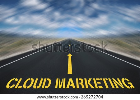 cloud marketing  - stock photo