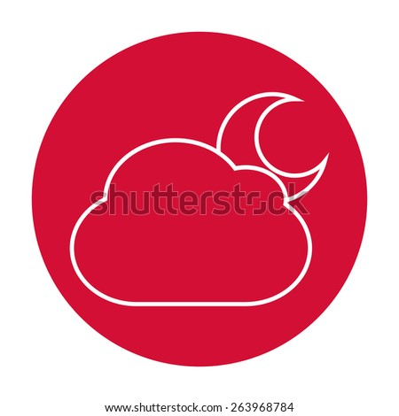 Cloud moon icon
