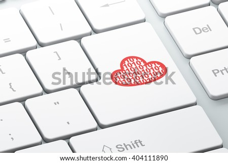 Cloud networking concept: Enter button with Cloud With Code on computer keyboard background, 3D rendering