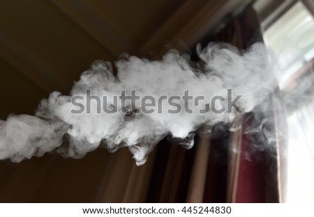 Cloud of smoke that comes from a cigarette