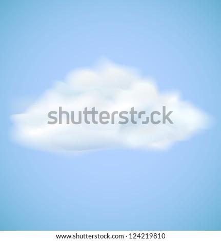 Cloud on blue sky. Raster version - stock photo