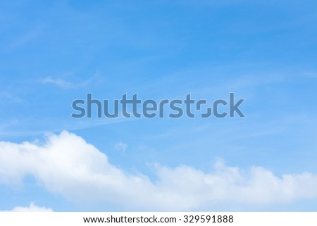 cloud on clear blue sky background - stock photo
