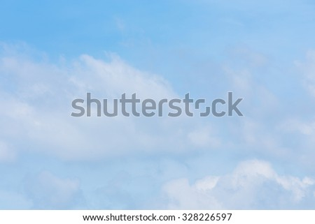 cloud on clear blue sky weather background