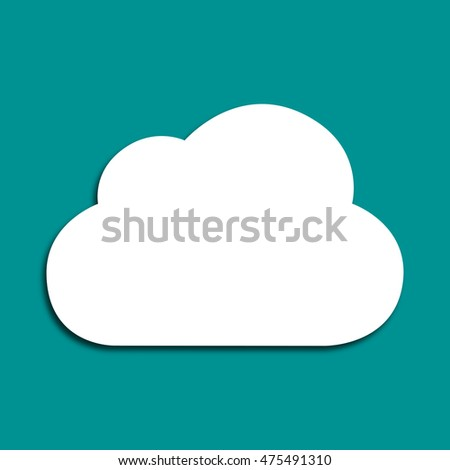 Cloud on green background