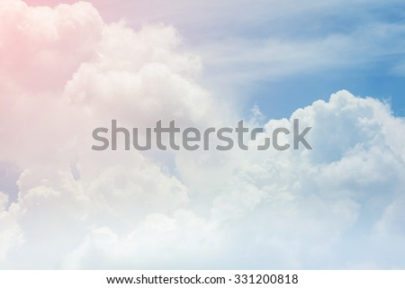 cloud on the sky background, cloudy weather with sunlight - stock photo