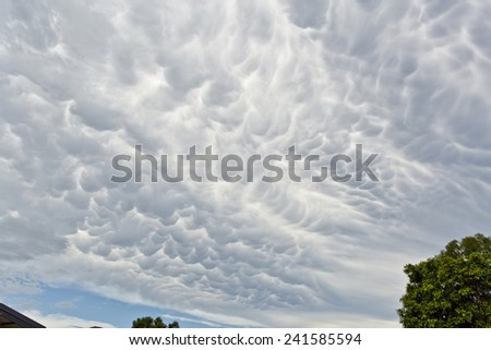 Cloud pattern of an approaching storm in Queensland, Australia.   - stock photo