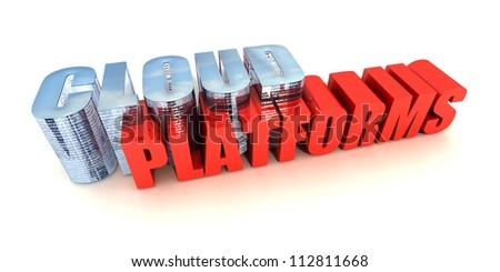 Cloud Platforms - stock photo