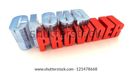 Cloud Provider - stock photo
