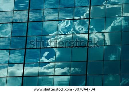 Cloud reflection - stock photo