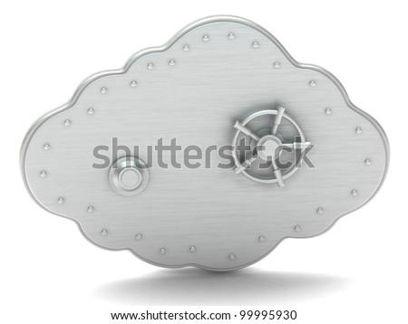 Cloud - safe box - stock photo
