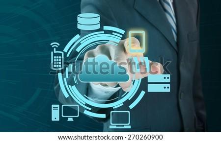 Cloud, server, concept. - stock photo