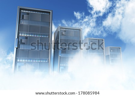 Cloud Servers Computing Creative Concept - stock photo