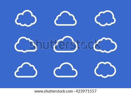Cloud set of icons