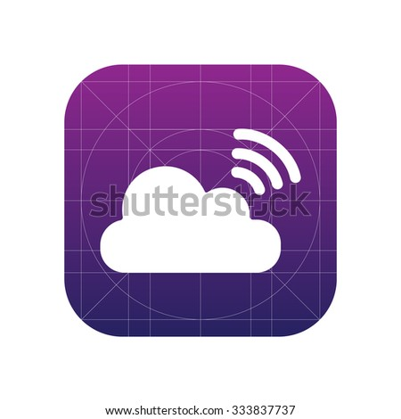 Cloud share sign icon, illustration. Flat design style for web and mobile.