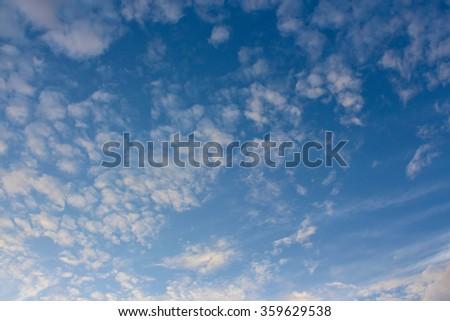 cloud sky background - stock photo