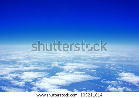 cloud sky view from above - stock photo